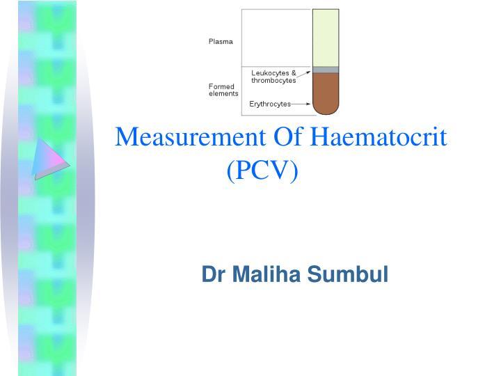 measurement of haematocrit pcv