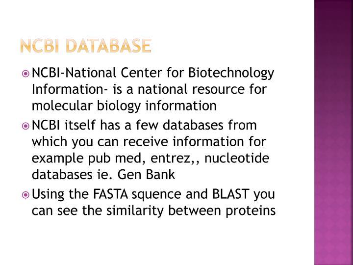 NCBI Database