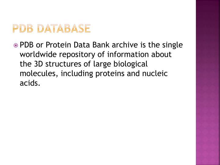 PDB Database