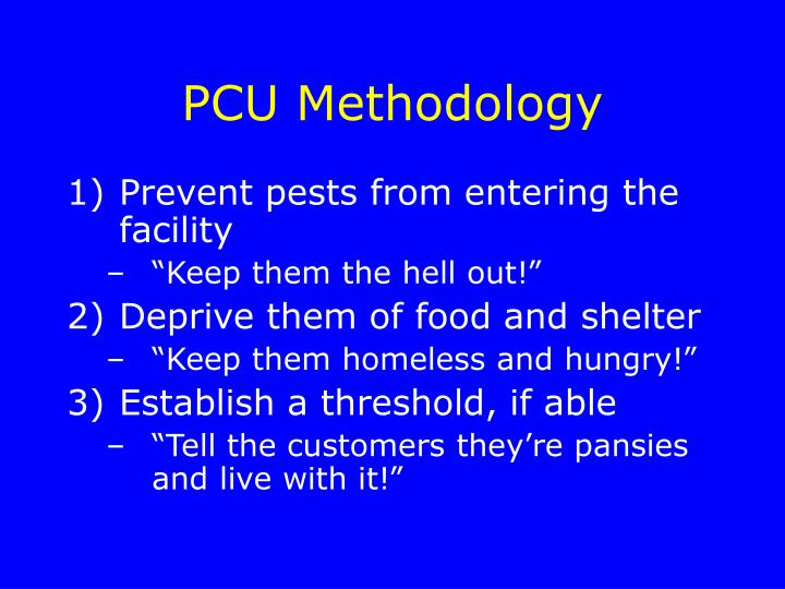 PCU Methodology