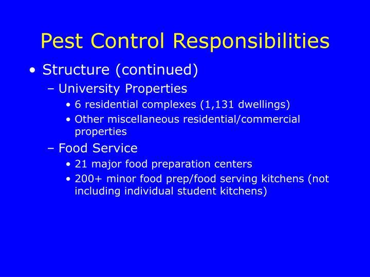 Pest Control Responsibilities