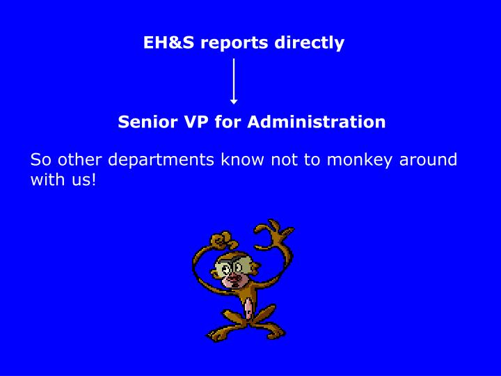 EH&S reports directly