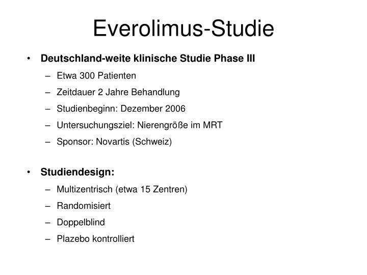 Everolimus-Studie