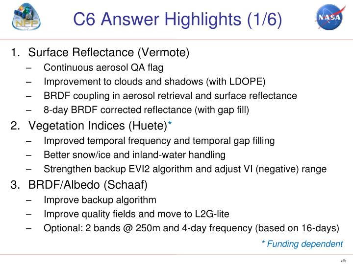 C6 Answer Highlights (1/6)