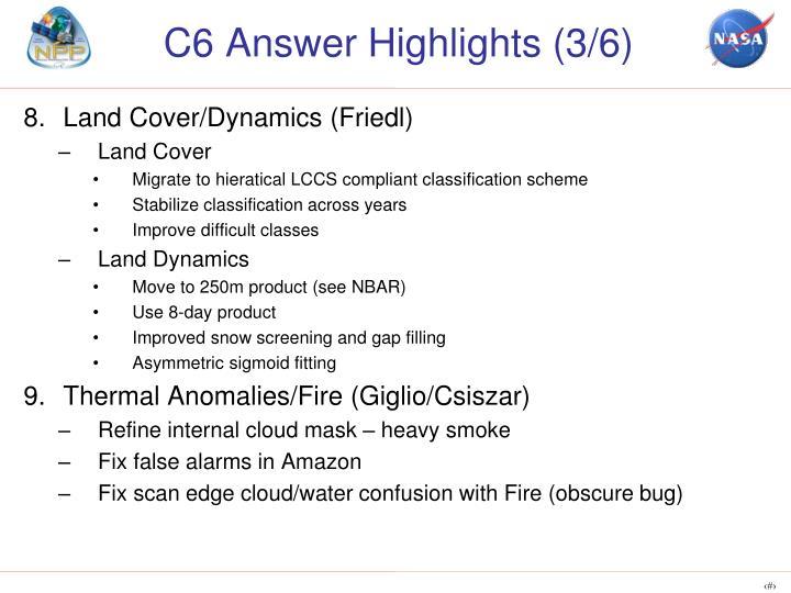 C6 Answer Highlights (3/6)