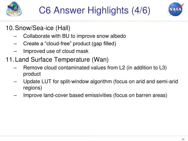 C6 Answer Highlights (4/6)