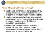 how health affects growth