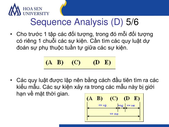 Sequence Analysis (D)