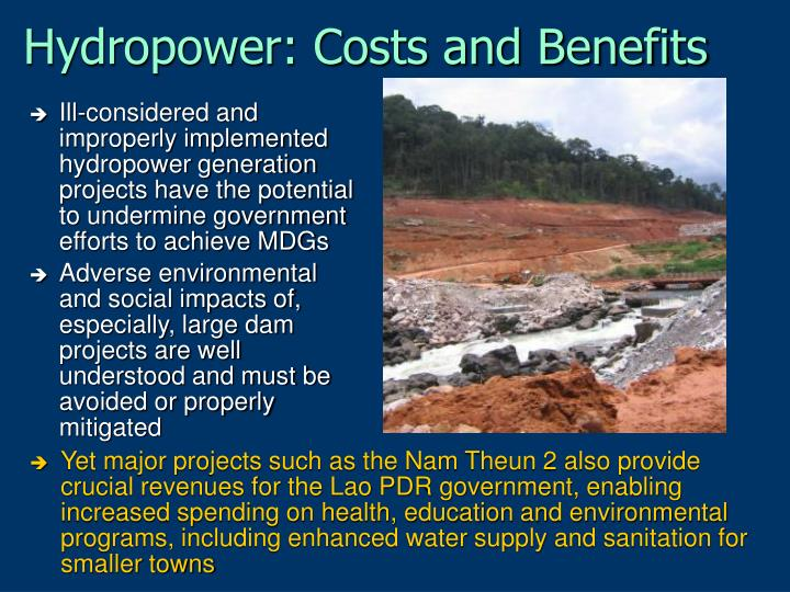 Hydropower: Costs and Benefits
