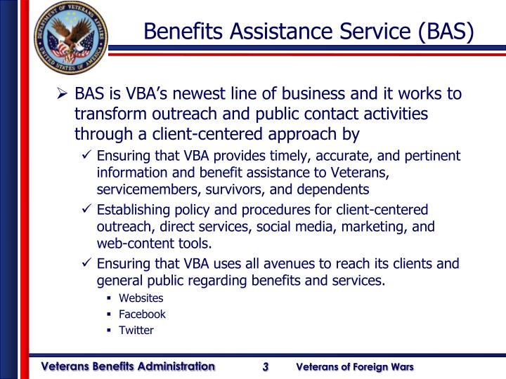 Benefits Assistance Service (BAS)