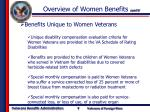 overview of women benefits cont d4