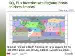 co 2 flux inversion with regional focus on north america