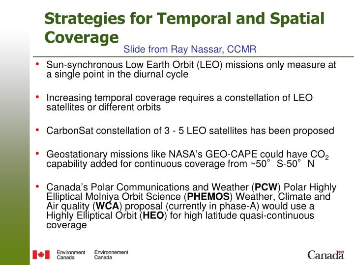 Strategies for Temporal and Spatial Coverage