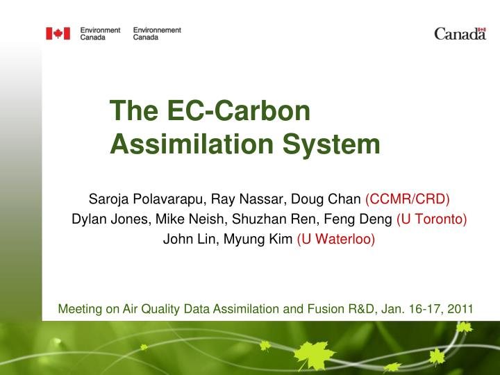 the ec carbon assimilation system