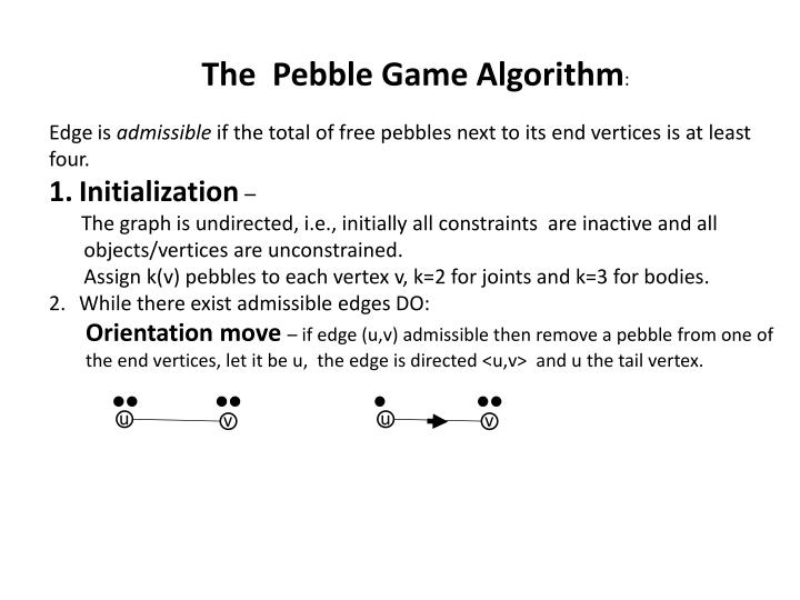 The  Pebble Game Algorithm