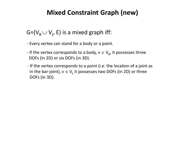 Mixed Constraint Graph (new)
