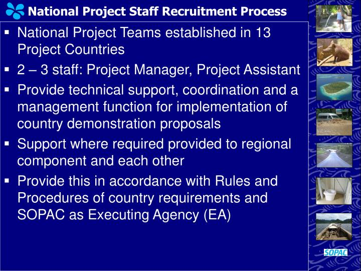 National Project Staff Recruitment Process