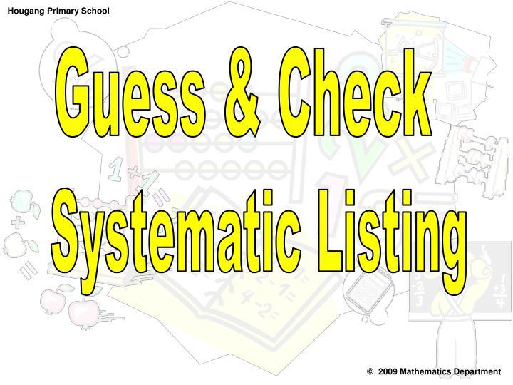 Guess & Check