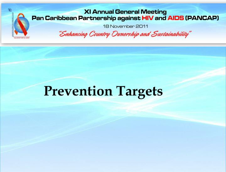 Prevention Targets