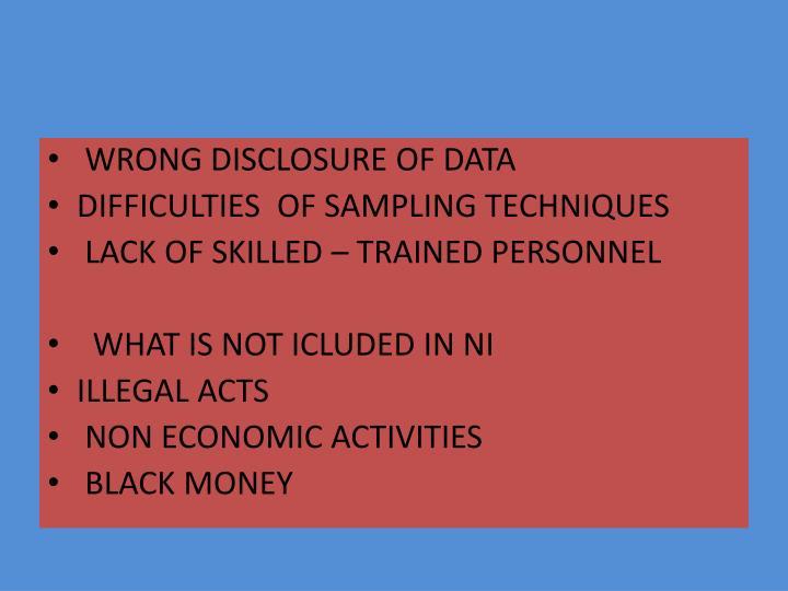 WRONG DISCLOSURE OF DATA