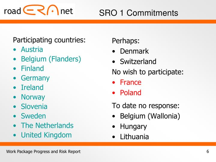SRO 1 Commitments