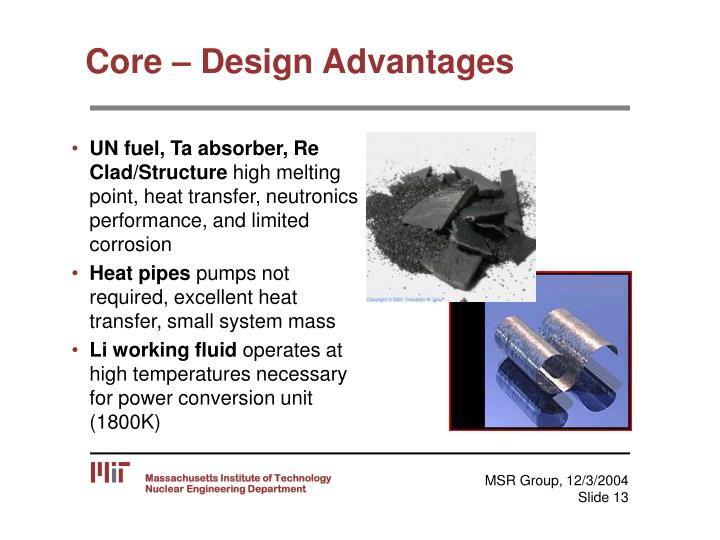 Core – Design Advantages