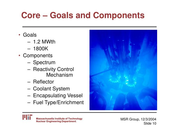 Core – Goals and Components