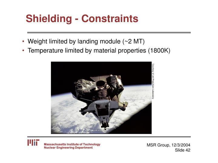 Shielding - Constraints
