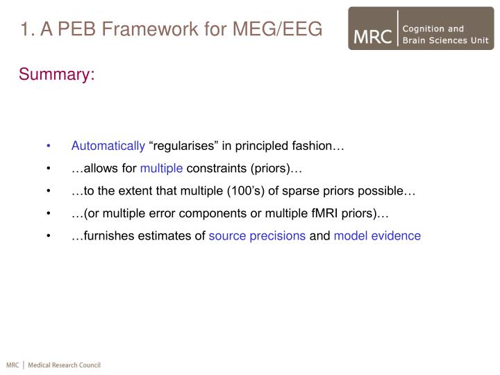 1. A PEB Framework for MEG/EEG