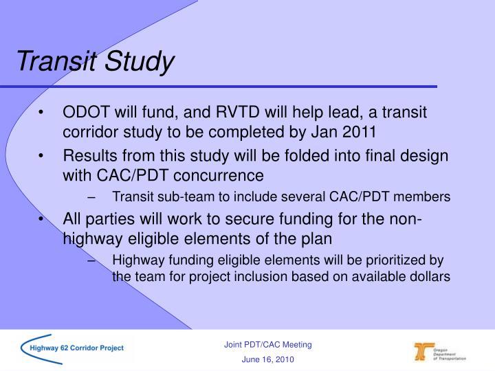 Transit Study