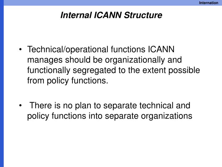 Internal ICANN Structure