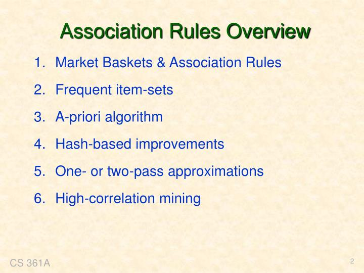 Association Rules Overview