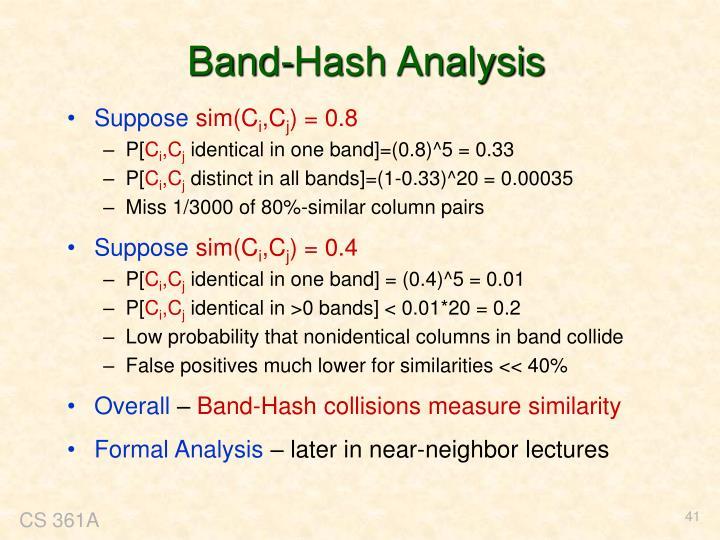 Band-Hash Analysis