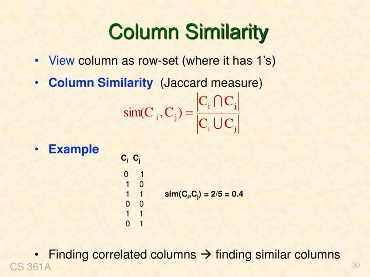Column Similarity