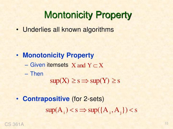 Montonicity Property