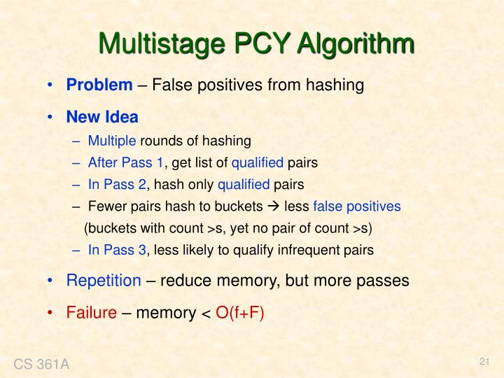 Multistage PCY Algorithm