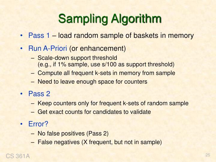 Sampling Algorithm