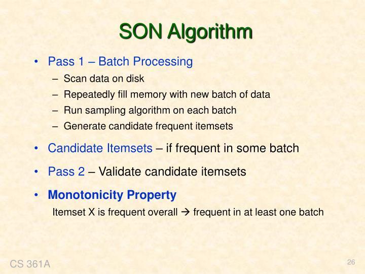 SON Algorithm