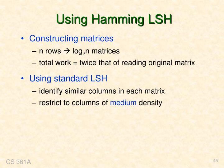 Using Hamming LSH