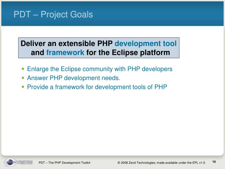 PDT – Project Goals