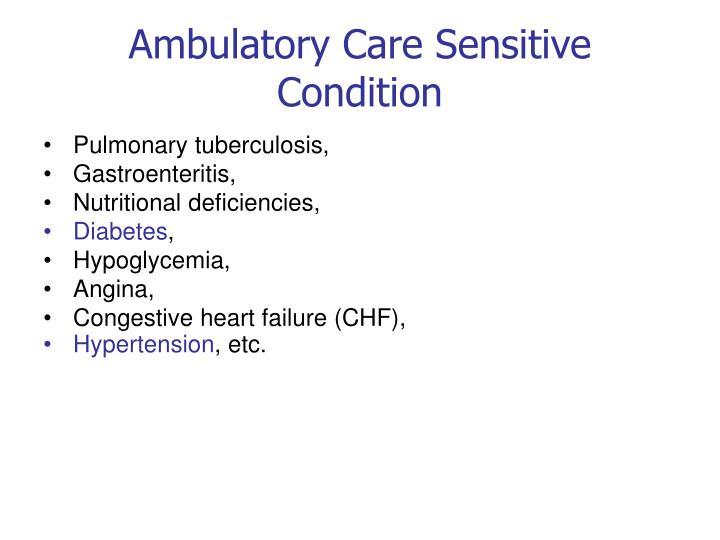 Ambulatory Care Sensitive Condition