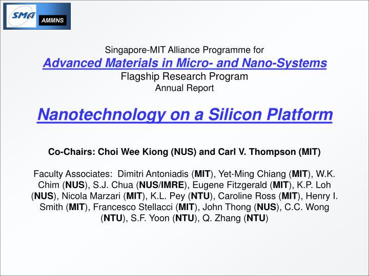 Singapore-MIT Alliance Programme for