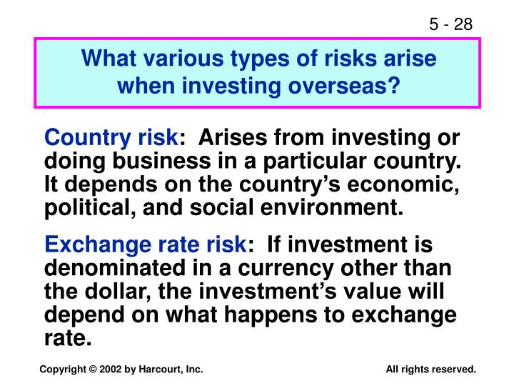 What various types of risks arise