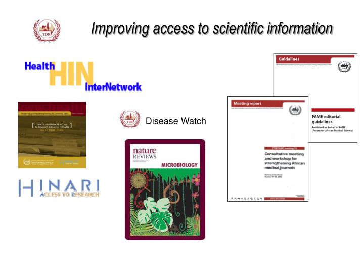 Improving access to scientific information