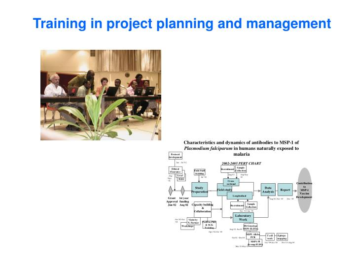 Training in project planning and management