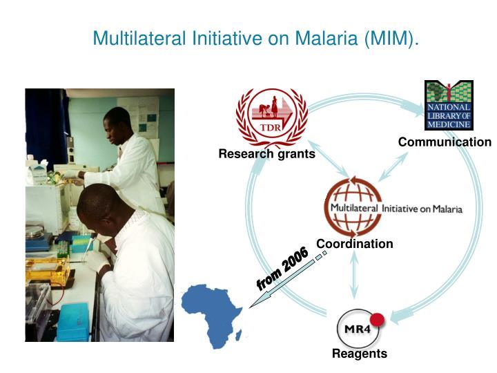 Multilateral Initiative on Malaria (MIM).