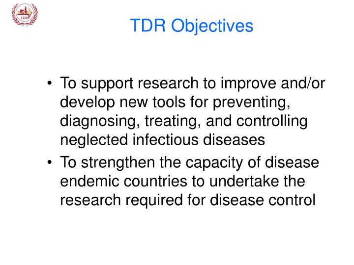 TDR Objectives