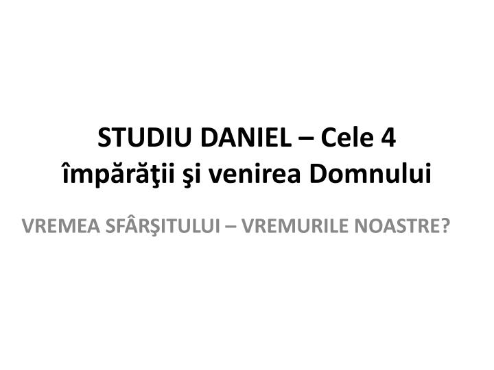 STUDIU DANIEL –