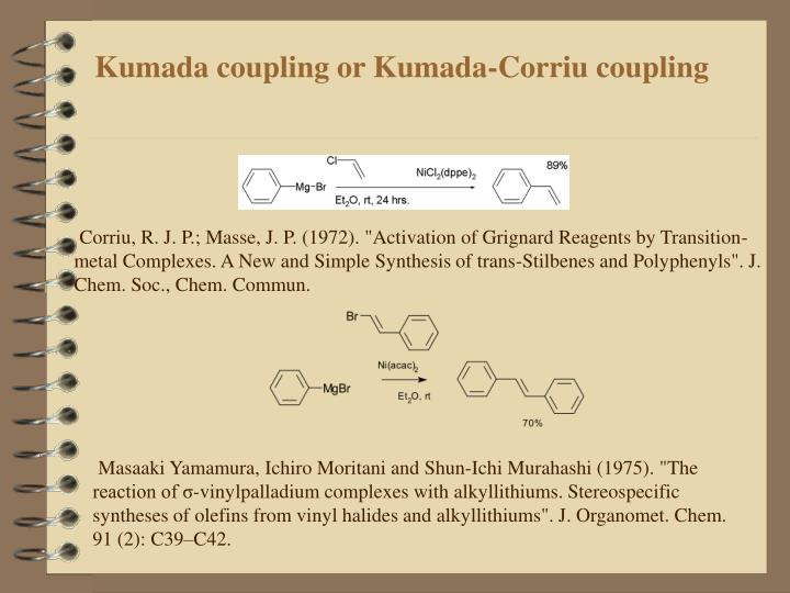 Kumada coupling or Kumada-Corriu coupling