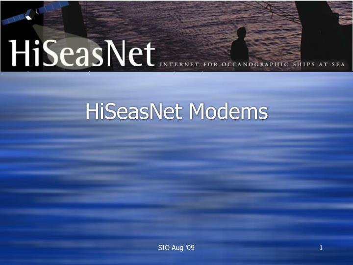 HiSeasNet Modems